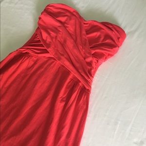 VS Red strapless sweetheart dress XS